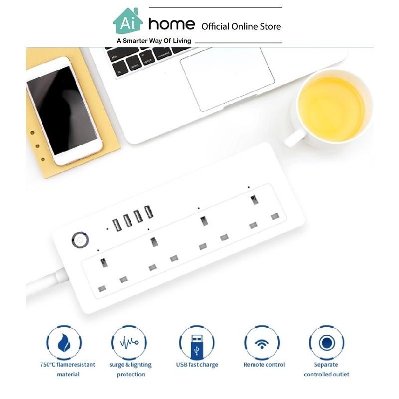 Smart Extention [ WiFi Power Strip ] 4 Socket + 4 USB with 1 Year Malaysia Warranty [ Ai Home ]