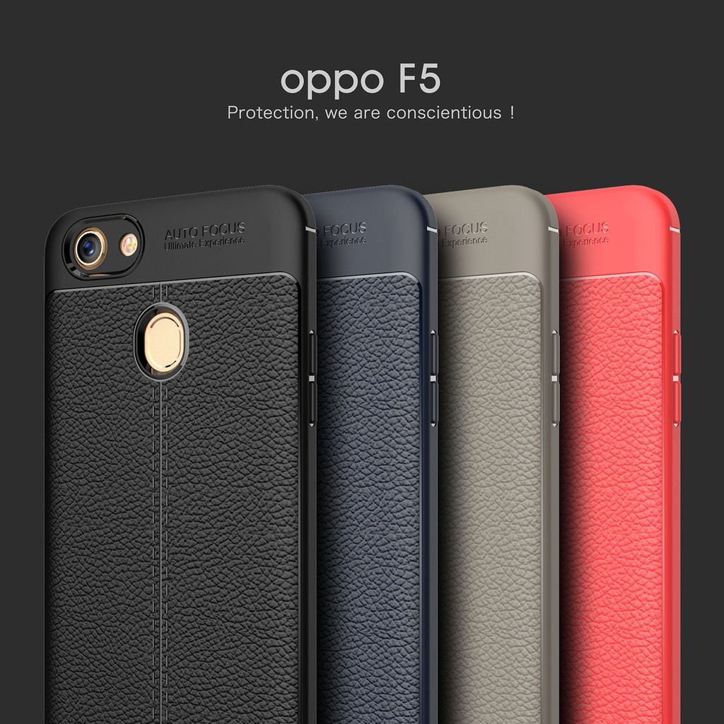 separation shoes 705ef 122f0 Soft TPU Case for OPPO F5 F1s A79 A83 A59 Soft Leather Pattern Silicone  Cover