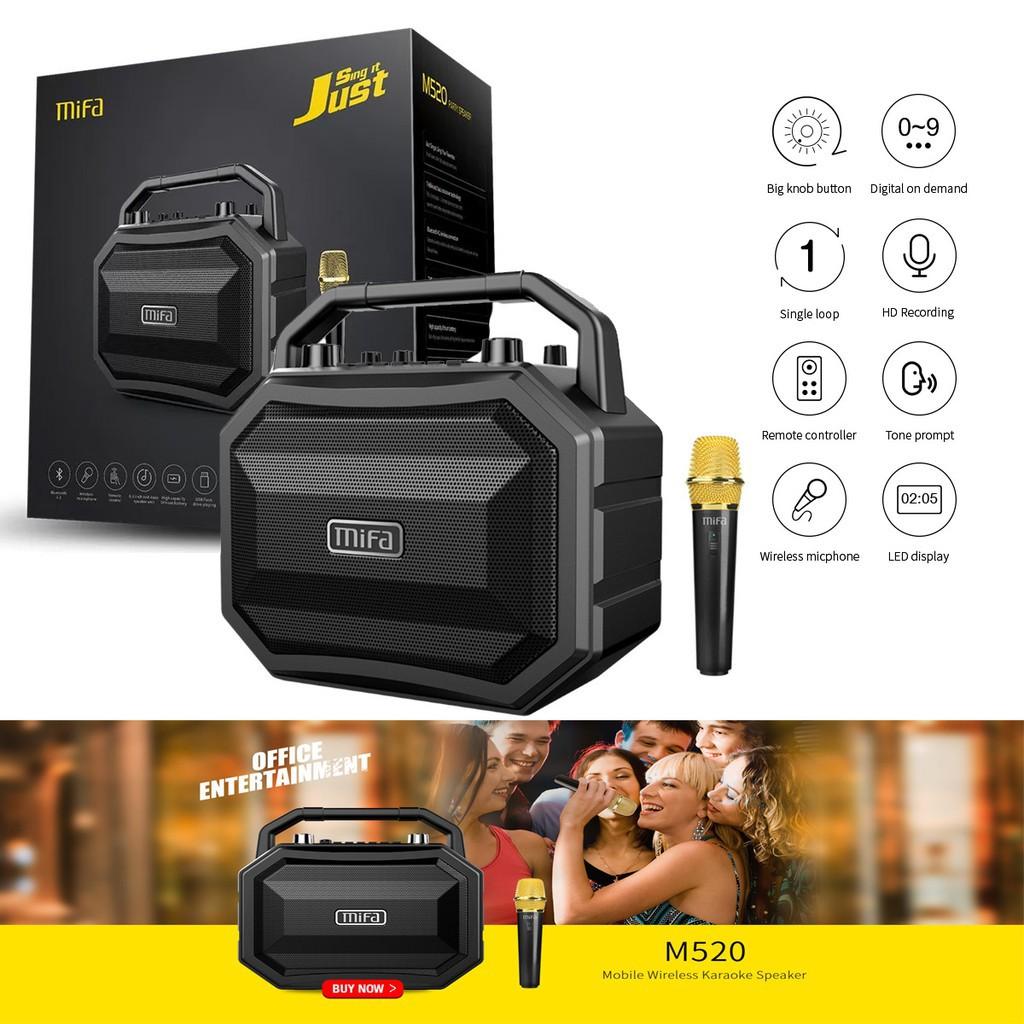 Mifa M520 Stereo Home Party Karaoke Bluetooth Speaker With Wireless Mini Microphone Shopee Malaysia