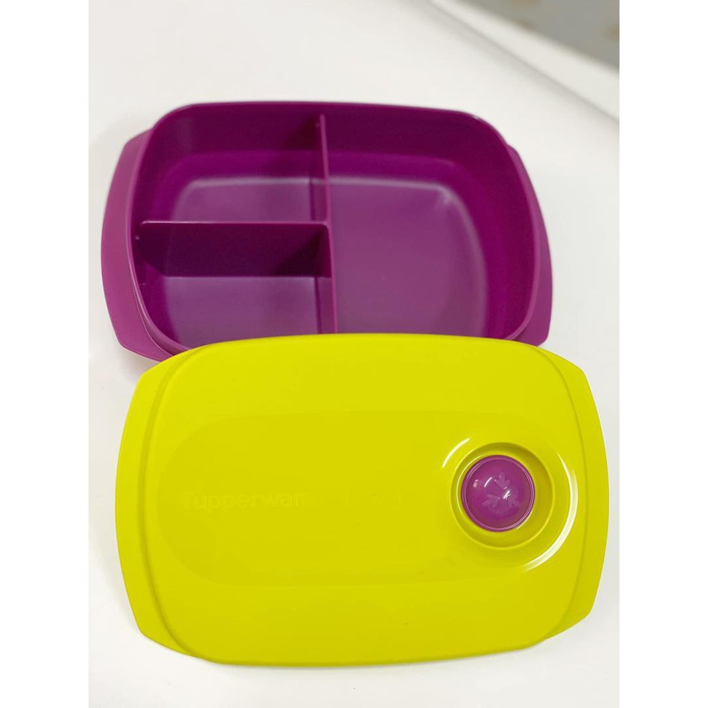 Tupperware Reheatable Divided Lunch Box (1L) NEW COLOR