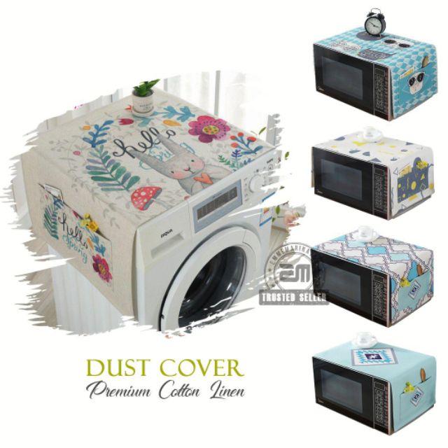 Alas Cover Peti Sejuk Mesin Basuh Freezer Washing Machine Premium Cotton Dust Cover