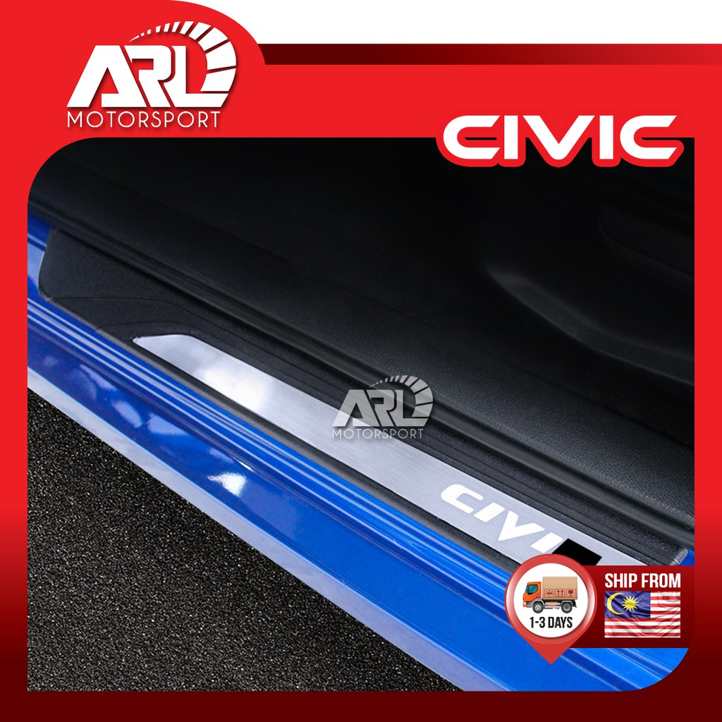 Honda Civic X (2016-2020) FC OEM Door Step LED Light With Logo Civic Car Auto Acccessories ARL Motorsport