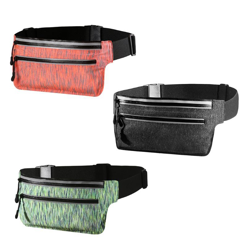 Waist Purse Chinese Traditional Art Style Unisex Outdoor Sports Pouch Fitness Runners Waist Bags