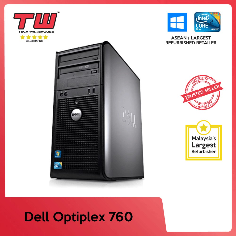 Dell Optiplex 760 Tower C2D 2 6 GHz + Upgrades