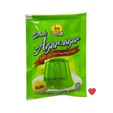 Kijang Serbuk Agar-Agar ~ Green Colour 10g  ( Free Fragile + Bubblewrap Packing )