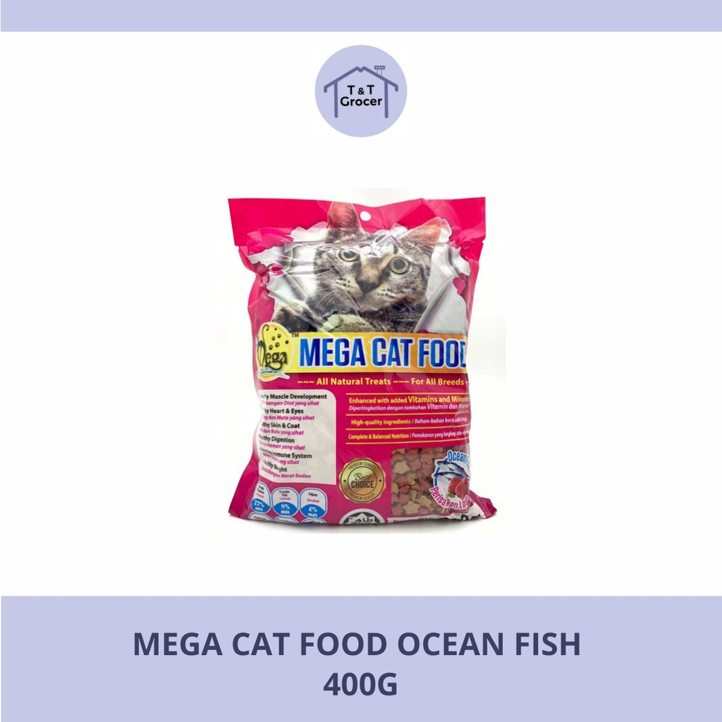 Mega Cat Food Ocean Fish 400g
