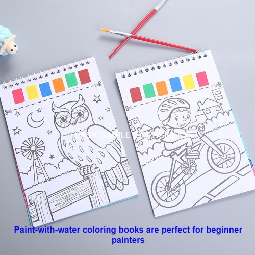 Kid Watercolor Paint Activity Books Paint With Water Activity Books Mess  Free