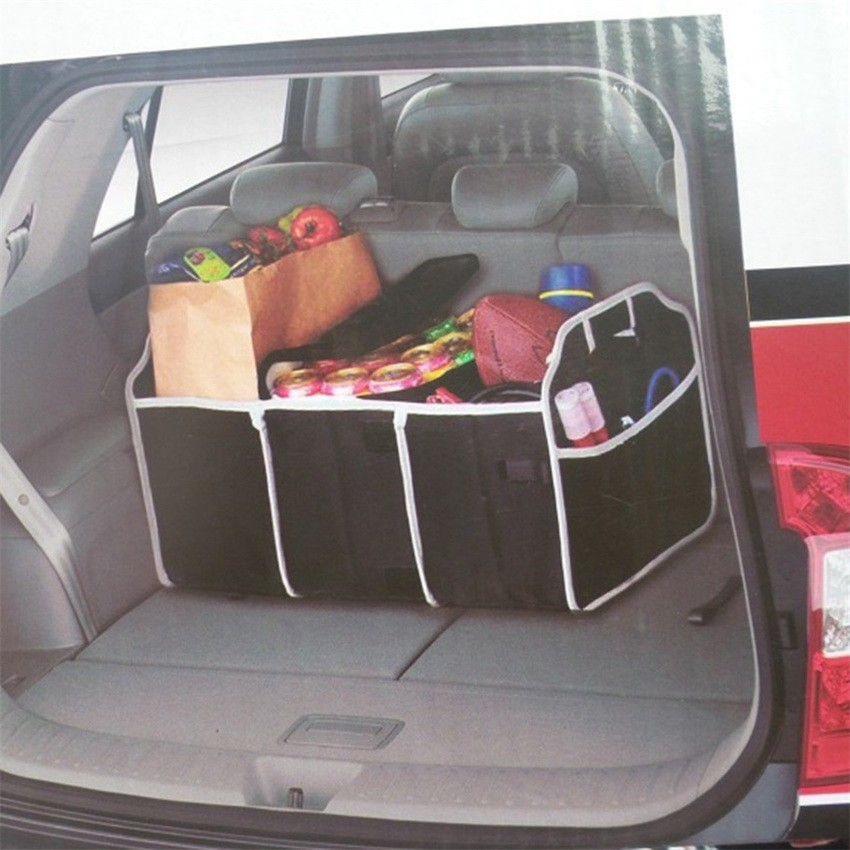 2 In 1 Car Boot Organiser Shopping Tidy Heavy Duty Collapsible Foldable Storage Collapsible Shopping Travel Holder For Car Auto Car Storage Organiser Minivan Foldable Storage Boot Organiser Box Car Boot Bag SUV Trunk Organizer Folding Car Organiser