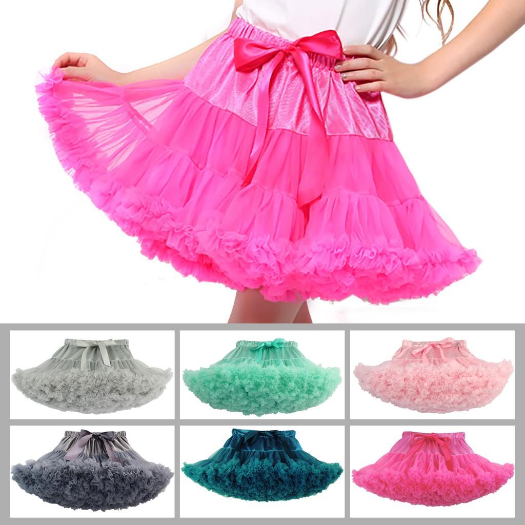 Girls Pettiskirts Cotton Ballet Tutu Skirt Dance Birthday Occasion Summer Outfit