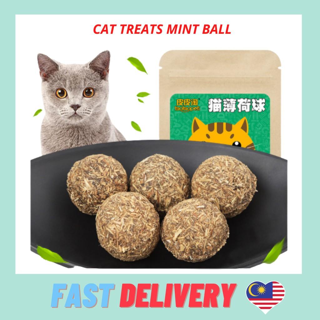 Catnip Cat Toys Ball Playing Supplies Product Pet Natural Silvervine 猫薄荷球 磨牙 Kucing Mainan