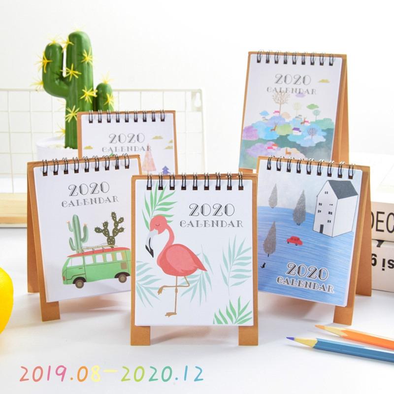 2019 Cartoon Mini Table Schedule Planner Cartoon Standing Calendar Gift Notebook
