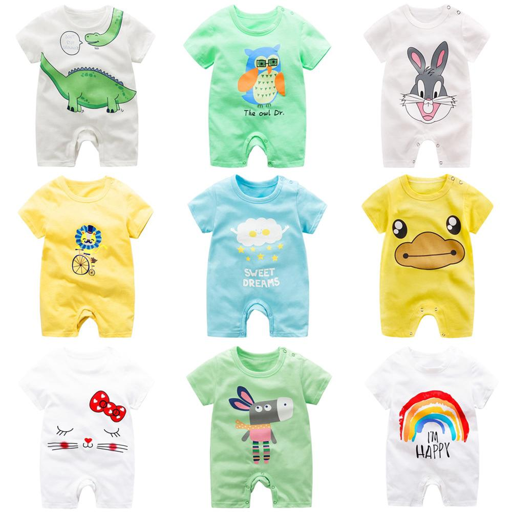 599d2aa77b401 Baby Clothing 100% Cotton Unisex Rompers Baby Boy Girls Summer ...