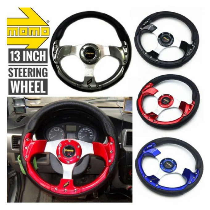 MOMO 13 inch PU Steering Wheel/Drifting Steering Wheel/Racing Steering Wheel