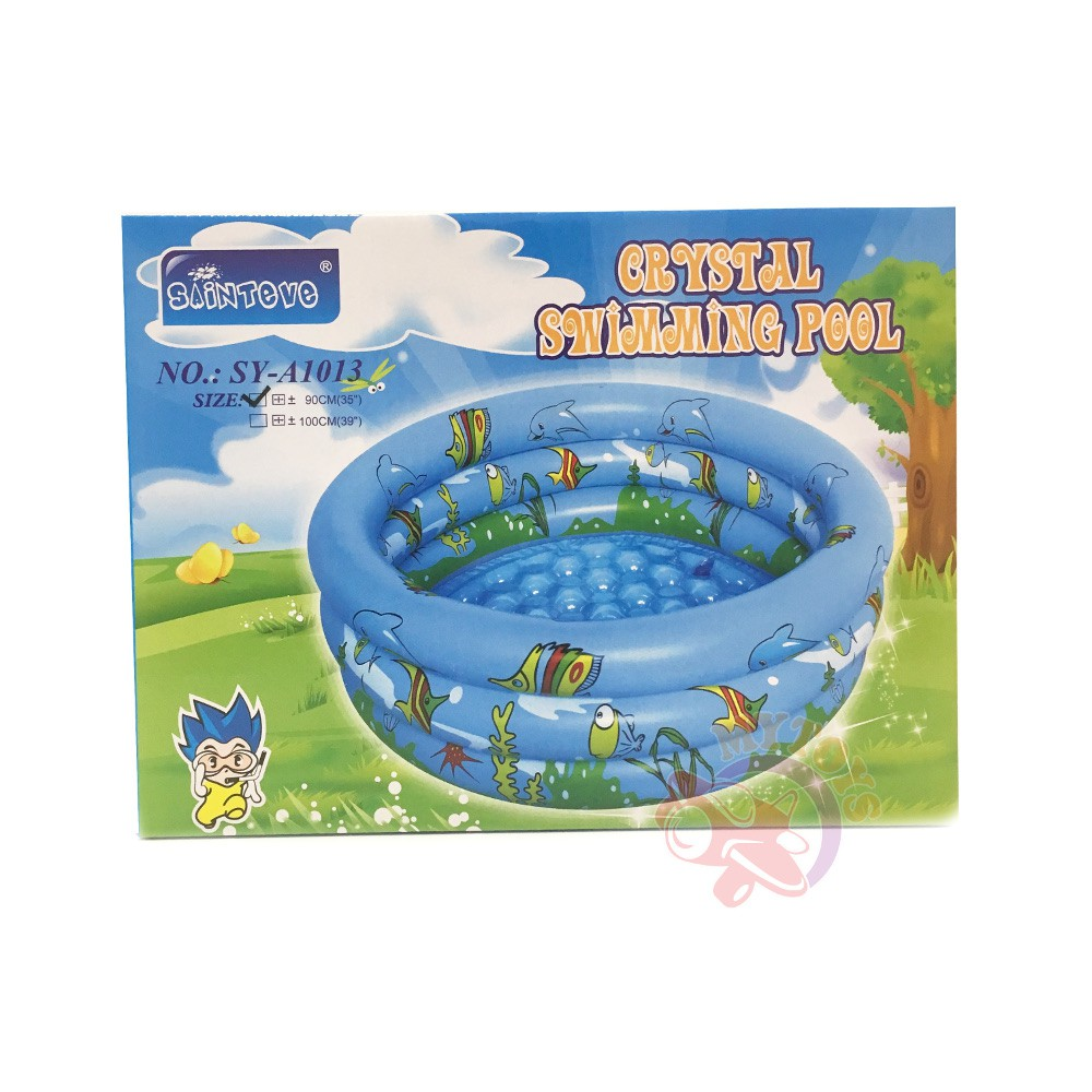 MYTOYS Sainteve 90cm Round Crystal Swimming Pool (3 Rings)