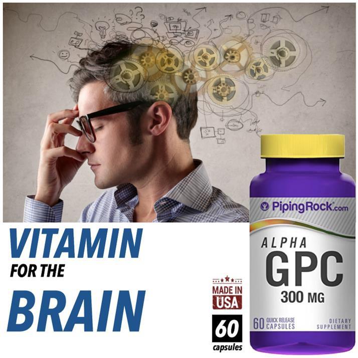 Alpha GPC 300mg, Alpha Glycerol Phosphoryl Choline (Brain Health ...