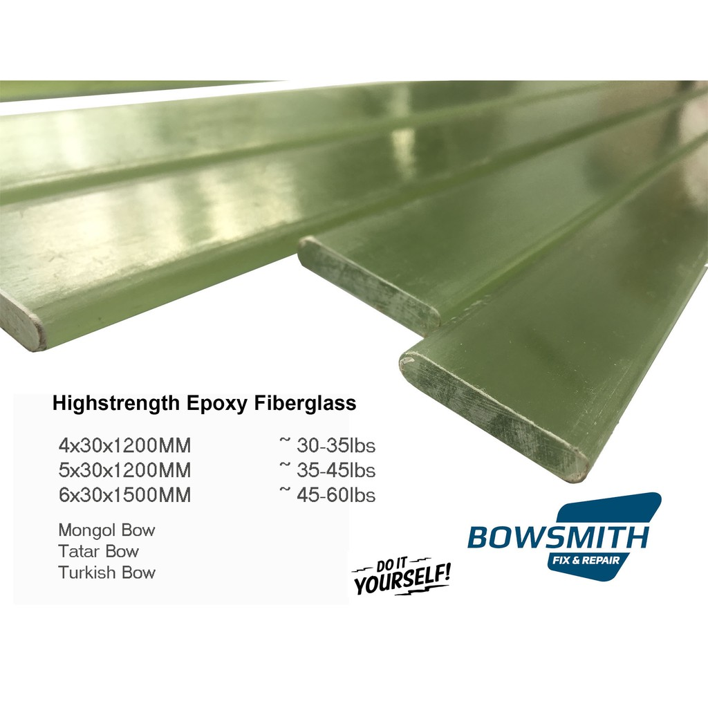 Epoxy Fiberglass 4*30*1200mm for Bow Making 30-40lbs