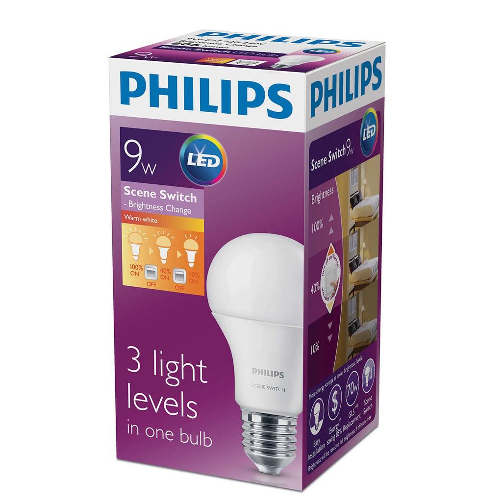 E27 Switchbrighness 6500k 3000k Bulb Philips ChangeLed Scene 9w mw80nOyvN