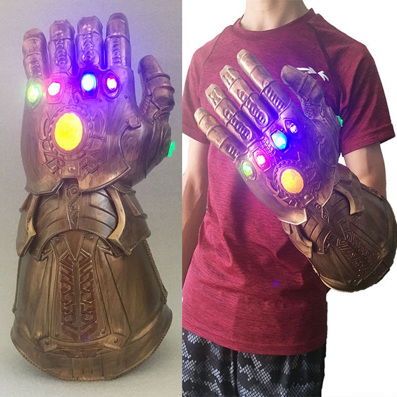 US SHIP LED Avengers Infinity War Thanos Gauntlet Gloves Cosplay Costume Prop