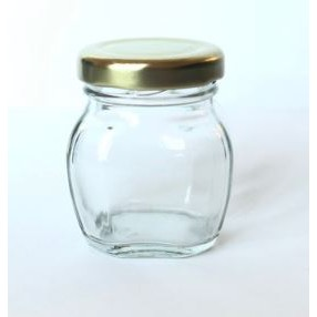 40 ml glass jar with gold cap
