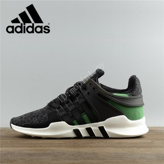 pretty nice 57379 528cf Original Adidas EQT Equipment Support ADV Black/Green Men and Women Low  Sneakers shoes