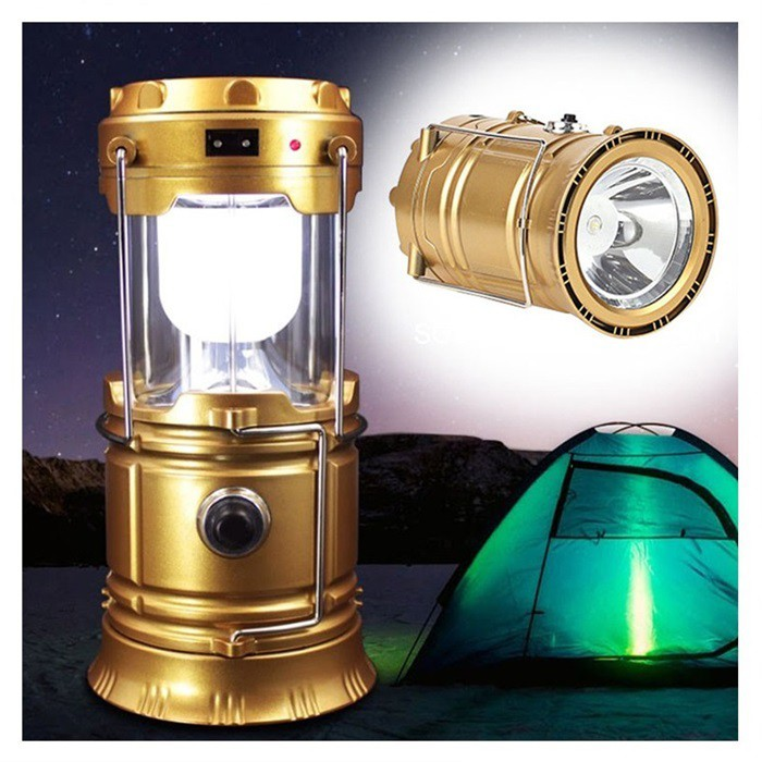 MALAYSIA: LAMPU LED BOLEH RE CHARGE BATERI SOLAR Rechargeable Solar Camping Light Lantern Foldable Flashlight LED