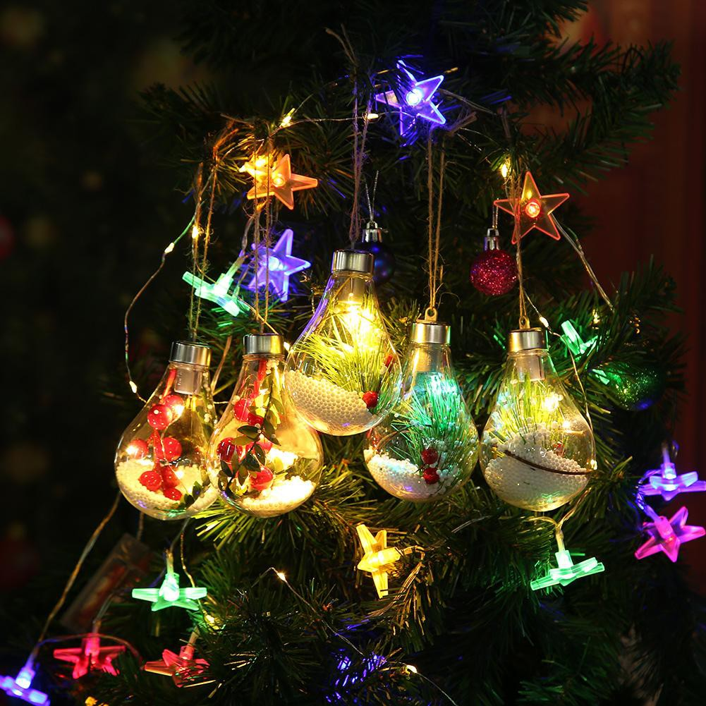Clear Christmas Lights.Soft Plastic Clear Led Christmas Light Bulb Ball Tree Hanging Decor Bauble