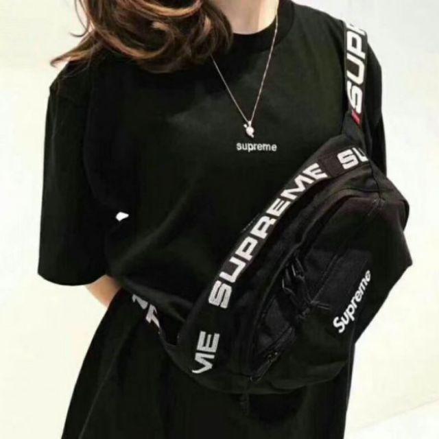 READY STOCK] WAIST BAG SUPREME MEN WOMEN POUCH BAG CROSS BODY BAG