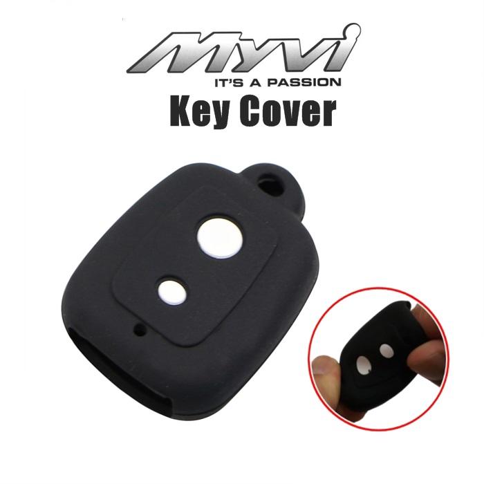 MALAYSIA] PELAPIK KUNCI KERETA Perodua Myvi Alza Viva Kelisa Silicone Remote Case Car Key Case Cover 2 Button