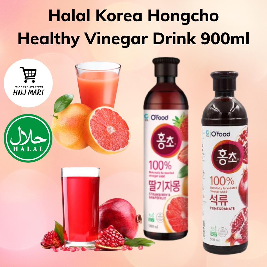 Halal Korea Hongcho Vinegar Drink 900ml [Strawberry Grapefruit / Pomegranate] 韩国红醋健康美颜水果醋