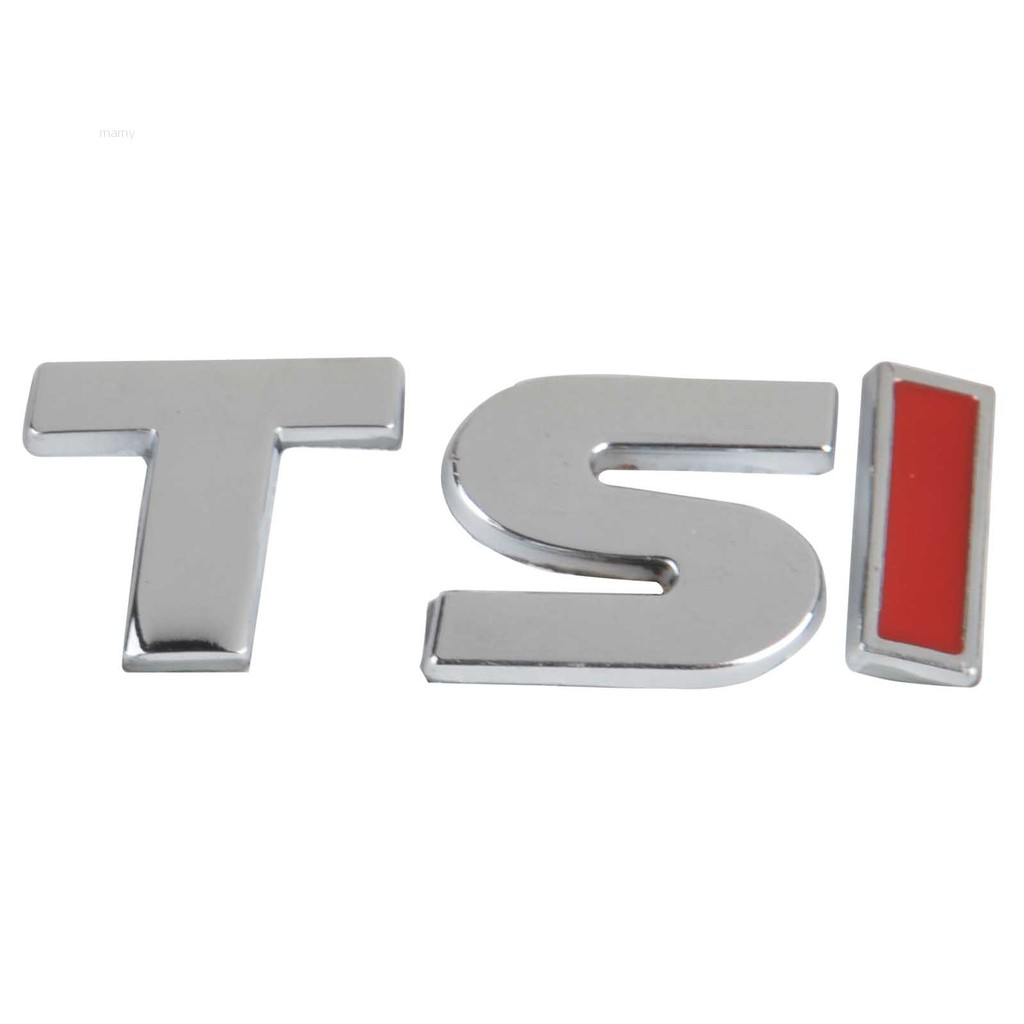 4.7*1.5cm Metal TSI Car Emblem Badge Sticker Decal for MK6