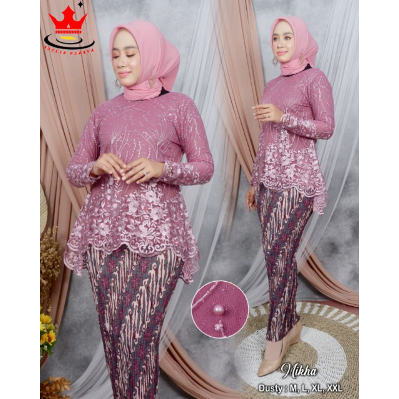 Sabrina organza Embroidery Brocade Javanese Blouse ck 5 / peplum Javanese Blouse / Graduation Javanese Blouse / modern Javanese Blouse