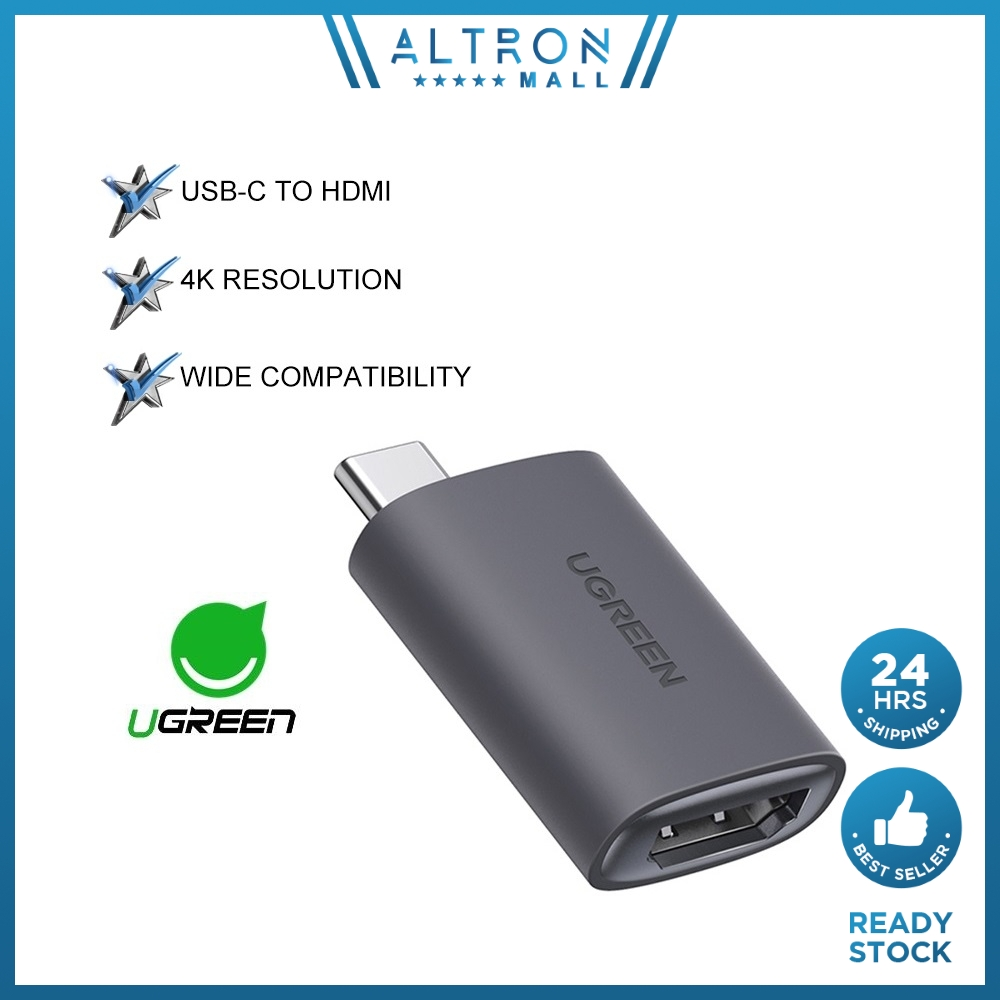 UGREEN USB C to HDMI Adapter 4K 60Hz Cable USB Type-C to HDMI Female Adapter Thunderbolt 3