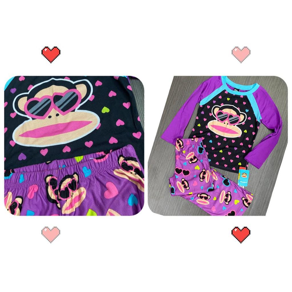 XS/ S/ M/ L Cartoon Paul Frank Pyjamas Girls Pajamas Kids Pyjamas