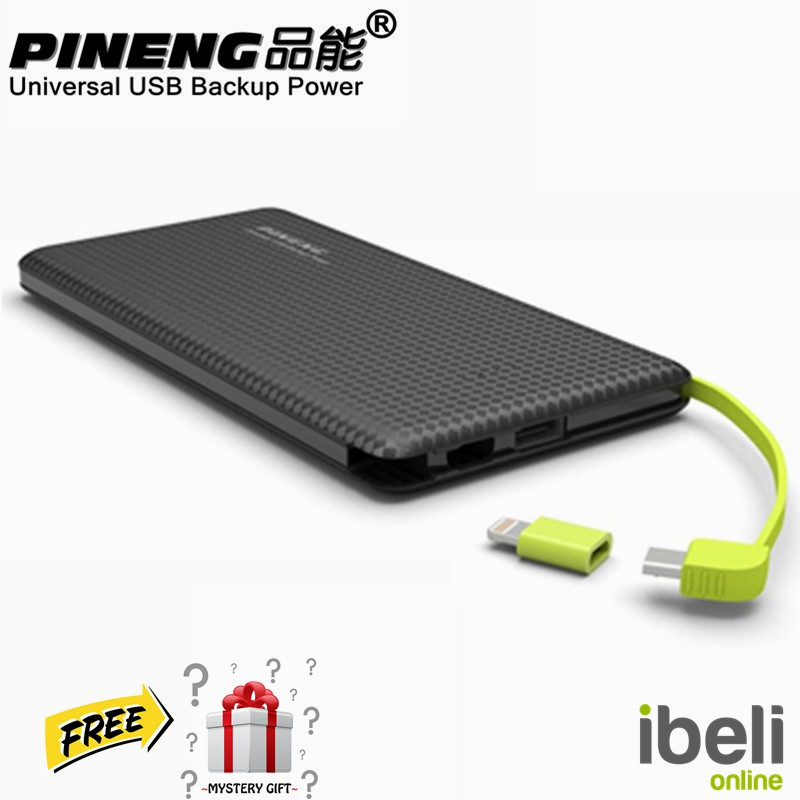 Pineng PN-951 Ultra Slim Design Power Bank 10000mAh