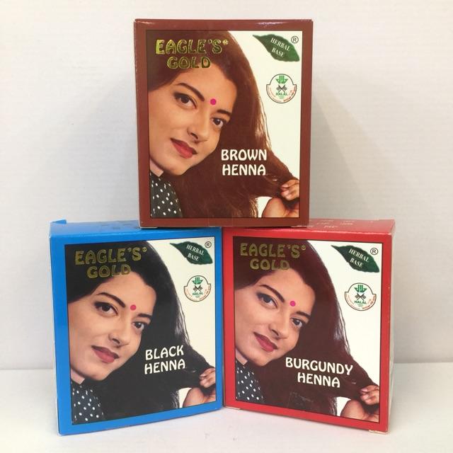 db0340da04c36 Eagle's Gold Black Henna Hair Dye Black Brown Burgundy 1 Box 6 | Shopee  Malaysia