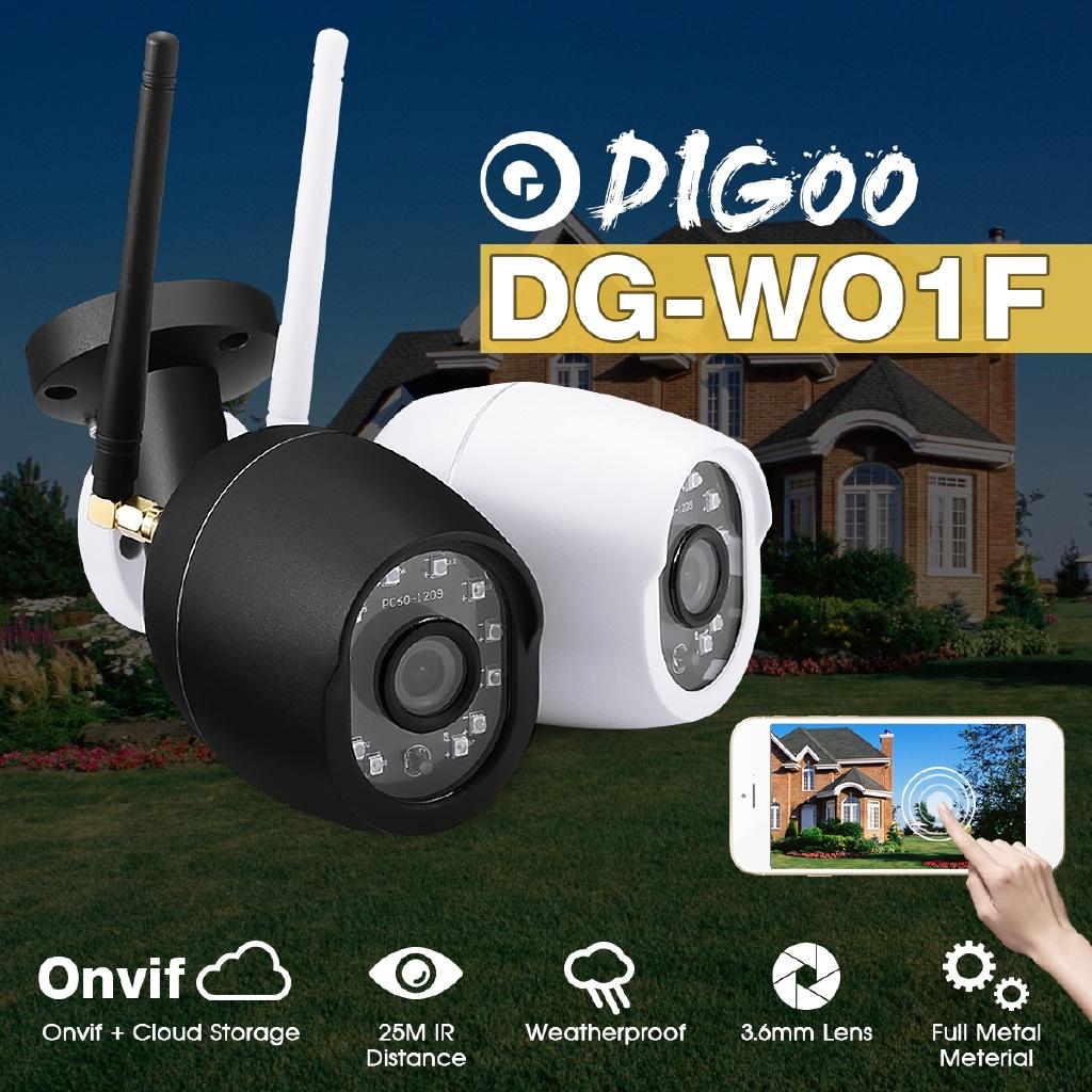 Digoo DG-W01f 720P Cloud Storage Waterproof Outdoor Security IR WiFi IP  Camera