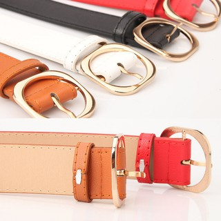 8a89028d6 Women Wide Leather Waist Strap Belt Square Pin Metal Buckle belts | Shopee  Malaysia