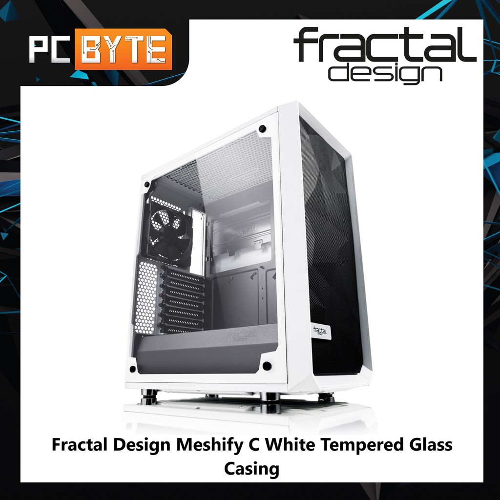 Fractal Design Meshify C White Tempered Glass Casing Shopee Malaysia,Modern Wood Burning Fireplace Designs