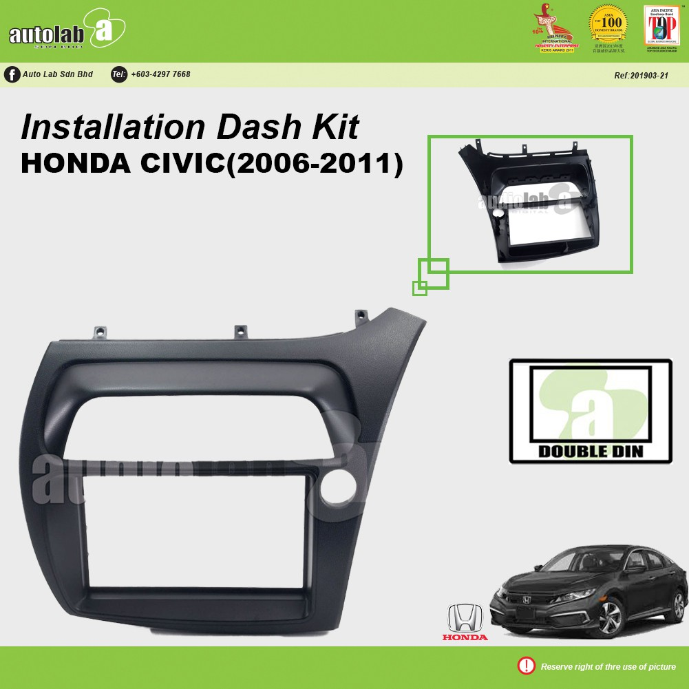 Player Casing Double Din Honda Civic 2006-2011