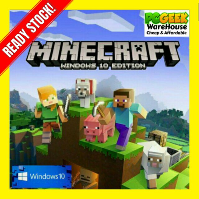 [READY STOCK] 100% Genuine Key Code Minecraft Windows 10 Edition Fast  Delivery