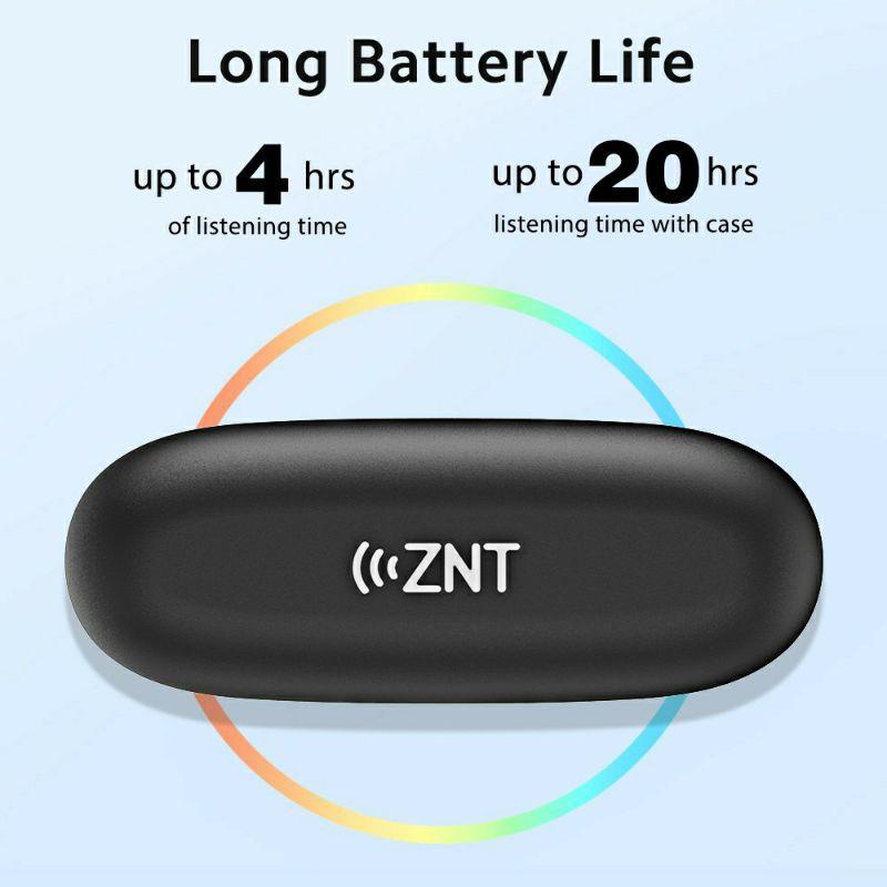 ZNT RockBeats Wireless Headphone Bluetooth 5.0 In Ear Wireless Earphone HiFi Sound LED Digital Display With Built In Mic