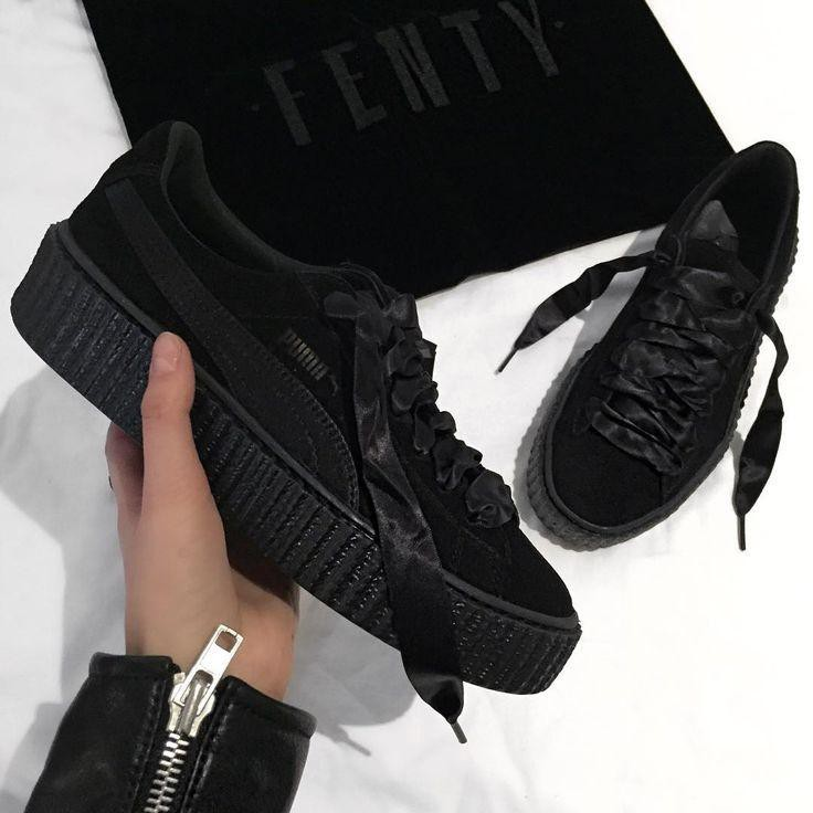 new styles 47de5 15050 Original PUMA by Rihanna Velvet Creeper 'Black'