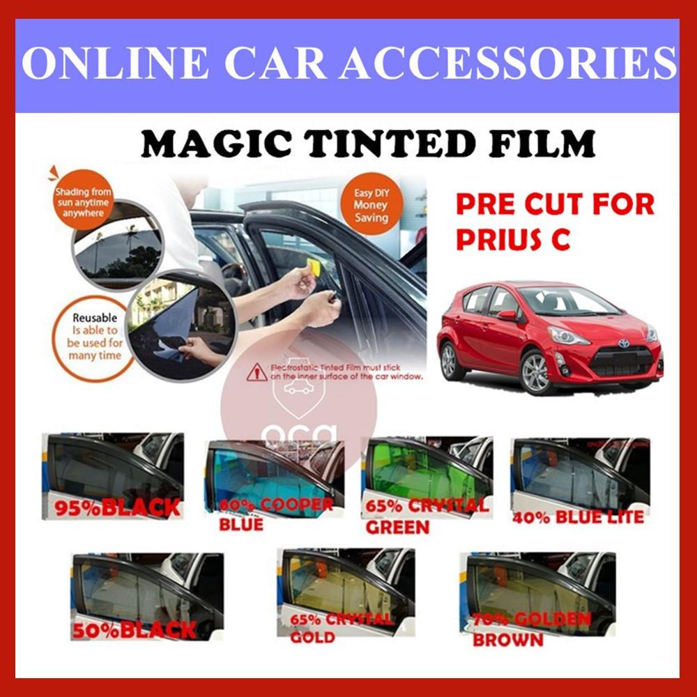 Toyota Prius C - Pre-Cut Shape Magic Tinted Solar Tinted (4 Windows & 2 Triangle /4 Windows+Rear)