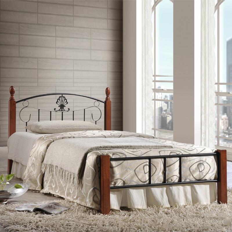 Furniture Direct Timor wooden post single metal bed frame/ katil besi single