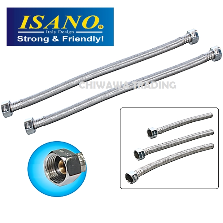 ISANO Stainless Steel Pressure Flexible Hose Faucet Shower Sink Water Tap Pipe