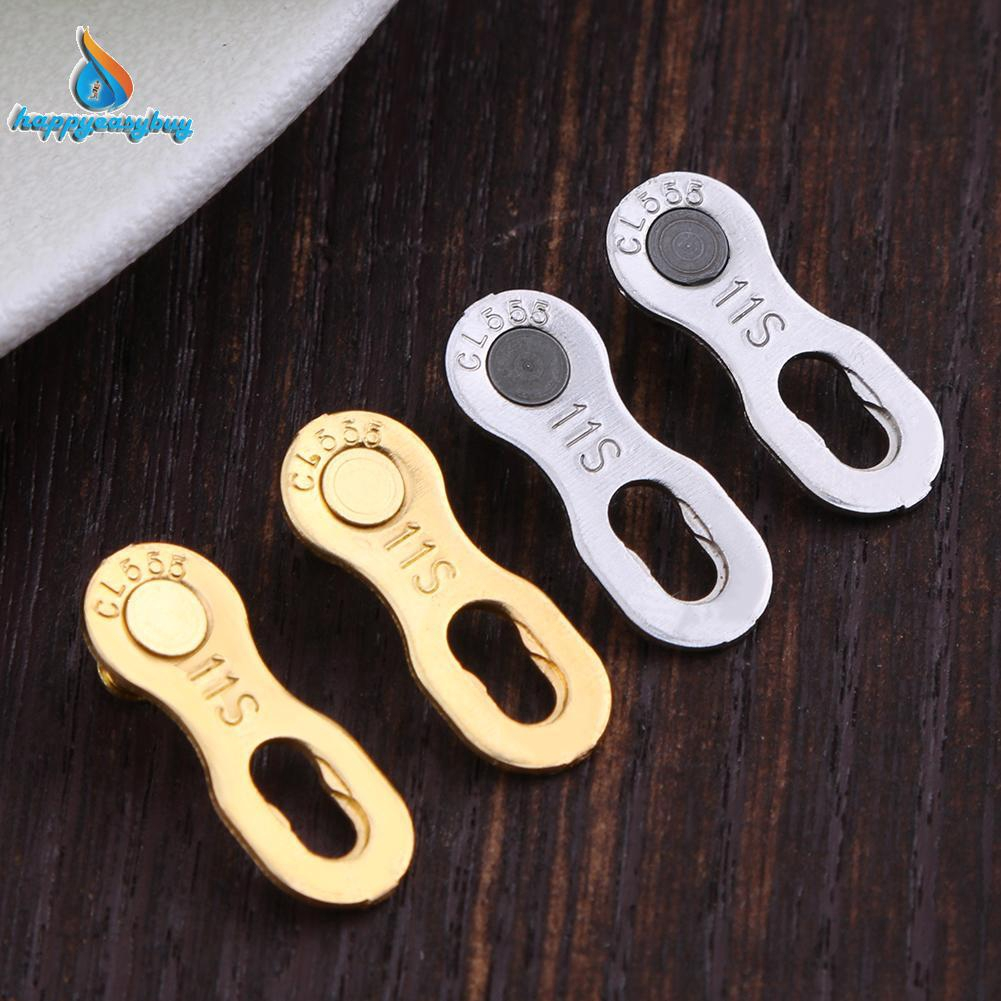 2Pcs Mountain Bike Bicycle Chain Master Link Joint Connector 11 Speed Quick Clip