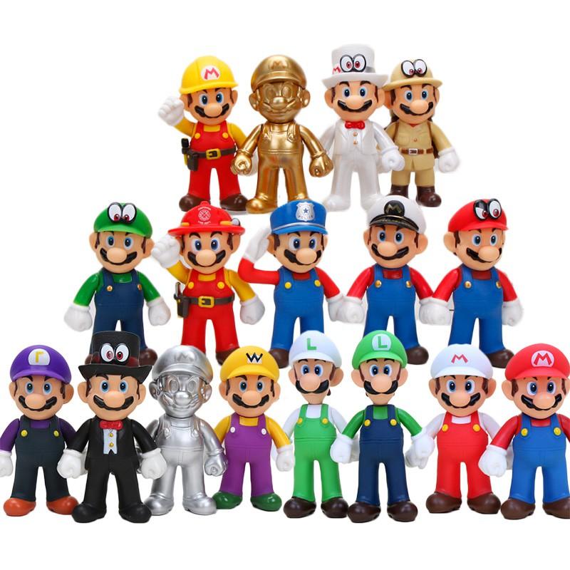 Newest Super Mario Bros mario luigi figura odyssey fabricante Action Figure  toys