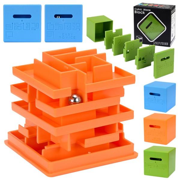 3D Ball Escape Square Maze Puzzle Game Children Labyrinth Ball Toy  Intellectual