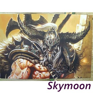 8PCS World of Warcraft WOW Embossing Posters