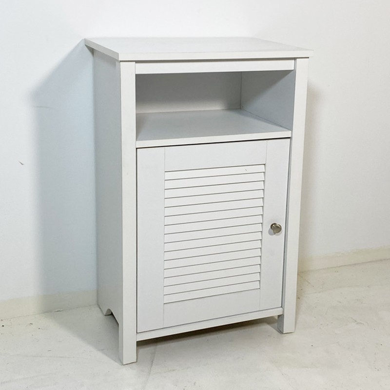 GLORY Louver Door Side Table white color